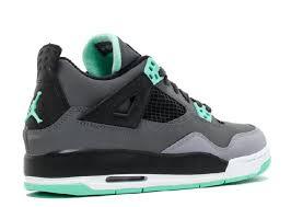 green glow 4 shop best ua air 4 retro gs grey green glow cmnt grey