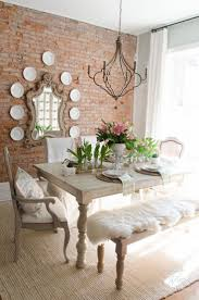 Large Dining Room Ideas Dining Rustic Dining Room Boasts Stylish Striped Dining Chairs
