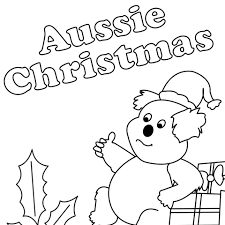 aussie christmas colouring sheet cleverpatch