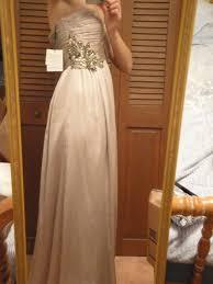 calvin klein wedding dresses calvin klein beige silver destination wedding dress size 2 xs