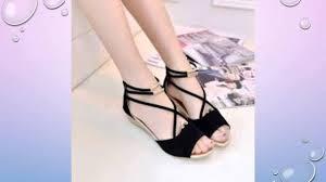 stylish black suede flat sandals youtube