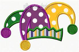 mardi gras hat mardi gras jester hat applique design