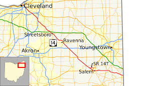 Cleveland State Map by Ohio State Route 14 Wikipedia