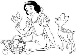 38 snow white disney coloring pages images