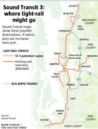 Seattle Monorail Map by Sound Transit Planning Heats Up For Light Rail Expansion And