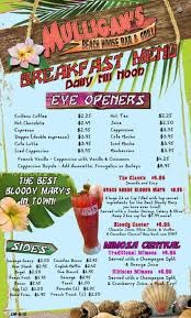 mulligan u0027s beach house menu urbanspoon zomato