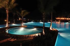 Pool At Night Tropical Resort Swimming Pool At Night Stock Photos Image 18941793