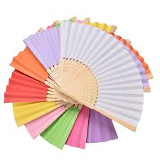 paper fans for weddings summer paper fans pocket folding bamboo fan wedding