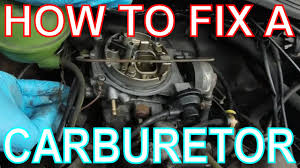 how to fix a carburetor high revving carb engine vw golf mk2