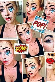 Halloween Makeup Comic Pop Art Comic Book Halloween Makeup Tutorial Youtube