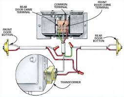 doorbell wiring diagram two chimes to install a doorbell wiring
