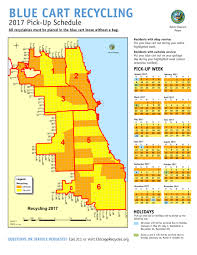 Chicago Area Code Map by City Of Chicago Blue Cart Schedule And Maps