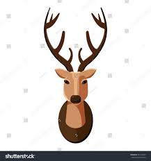 deer head icon cartoon illustration deer stock vector 581919649