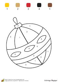 coloriage magique maternelle boule noel à imprimer sur
