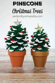 craft pinecone trees a fun kids or pinecone christmas projects for