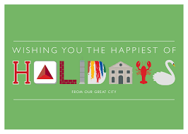 christmas cards themed boston landmark greeting cards from the citgo sign to