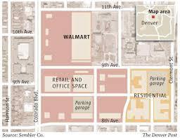 Walmart Floor Plan Proposed Denver Walmart Underscores Company U0027s Polarizing Effect