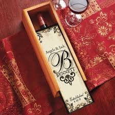 personalized box personalized decorative wine box walmart