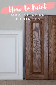 how to paint oak veneer kitchen cabinets how to paint stained oak cabinet doors honey built home