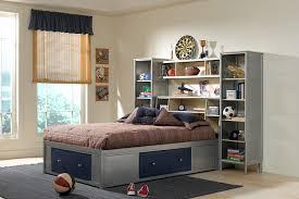 amazon com universal storage platform bed w bookcase headboard