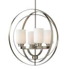 brushed nickel dining room light fixtures home decorators collection 4 light brushed nickel chandelier