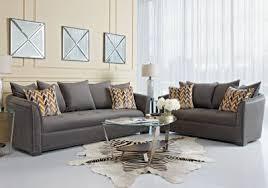 Rooms To Go Sofa Bed Sofia Vergara Mandalay Charcoal 7 Pc Living Room Living Room