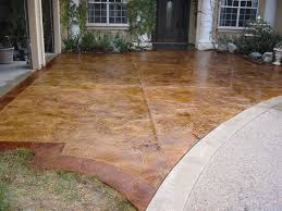 Seamless Stamped Concrete Pictures by Stamped Concrete Resurfacing With Chem Stain A Home In The