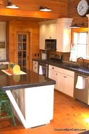 Log Cabin Kitchen Cabinets by Updated Cabin Kitchens Granite Countertops Log Cabin Kitchen