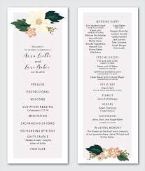 wedding program format wedding program marissa hochstetler