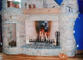 rumford fireplace natural stone with chimney matched with wooden