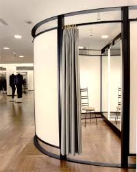 barneys new york ny fixtures and dressing room in steel chrome