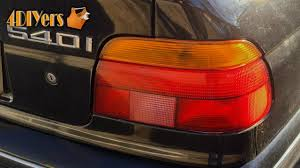 e38 euro tail lights diy bmw e39 tail light bulb replacement youtube