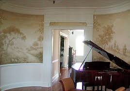 Mural Stencils Elegant Stencils For Dining Room Grisaille Murals - Dining room mural