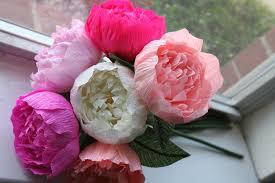 Peony Flowers by 6 Peonies Crepe Paper Peonies Wedding Peonies Crepe Paper
