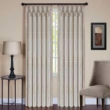 achim sheer parker ivory pinch pleat window curtain panel 34 in
