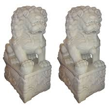 white foo dogs decor white marble foo dogs for home accessories ideas