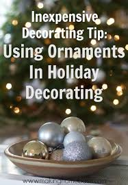 using ornaments to decorate for