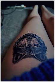 wolf head tattoo ideas on thigh tribal wolf tattoos wolf tattoo