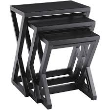 buy nest of tables zano rubbed black nesting tables pier 1 imports