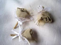 Country Shabby Chic Wedding by Burlap Rose Boutonniere Groom Or Groomsmen Buttonholes Set 6