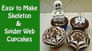 Easy Halloween Cupcake Decorations Skeleton Cupcake