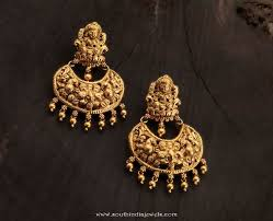 temple design gold earrings gold temple earrings from karpagam jewellers earrings