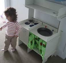 how to make a toy kitchen out of cardboard apartment therapy
