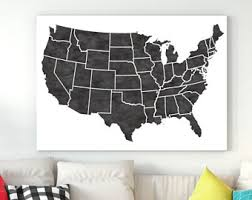 united states map black and white united states map etsy
