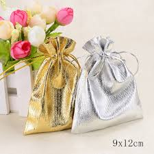 organza bags wholesale wholesale 9x12cm silver gold candy drawstring organza bags
