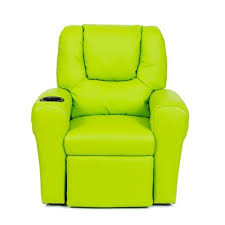 buy kids leather recliner chair green online in australia