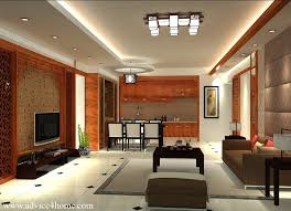 White False Pop Ceiling Design And Brown Sofa Set Design In Living - Ceiling design for living room