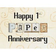paper anniversary 1st paper anniversary cross stitch kit elite designs