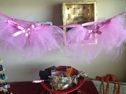tutu themed baby shower diy baby shower tutu decor