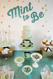 mint to be bridal shower mint to be bridal shower or wedding dessert table table